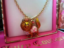 NWT JUICY COUTURE Pave Pomeranian ASPCA Necklace EXTREMELY RARE and HTF!!!!