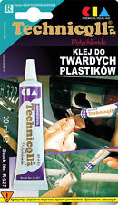 Technicqll STRONG RIGID ADHESIVE GLUE HARD PLASTIC ABS PVC PIPES GLASS PCV