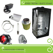 "Hydroponic 1m Grow Tent Kit 5"" Extractor Fan Carbon Filter 600w HPS Grow Light"