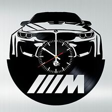 BMW HANDMADE vinyl record modern vintage wall clock Art Decor Decal living room