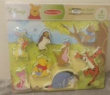 NEW Melissa & Doug - Winnie the Pooh Wooden Chunky Puzzle 8pc Ages 2+