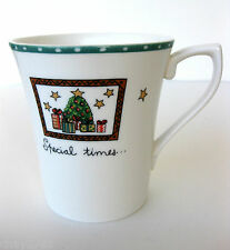MIKASA ULTIMA CHRISTMAS WISH SUPER STRONG FINE CHINA CAPUCCINO MUG