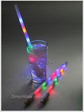Set of 2 LED Light Up Rainbow Drinking Straws