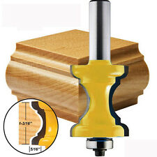 """1/2"""" Shank Bullnose Molding Router Bit with Bead Column Face Woodworking Tool"""