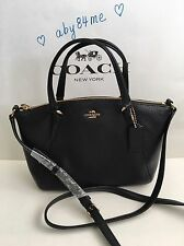*NWT* Coach Mini Kelsey Satchel In Pebble Leather Crossbody Handbag 57563 Black