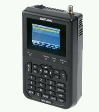 "3.5"" WS-6906 Satellite Signal Finder LCD SATlink DVB-S FTA Data Digital Meter UK"