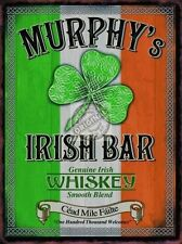 Murphy's Irish Bar, Pub Restaurant, Whiskey Clover Ireland, Small Metal/Tin Sign