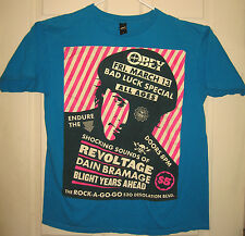 OBEY Shirt L Bad Luck Special Rock A Go Go Fairey Art Street Style HTF RARE OOP