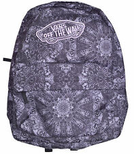 Vans REALM BLACK PINK Backpack Bag BACK PACK SKATE BOOK BAG 22L CLASSIC PATCH