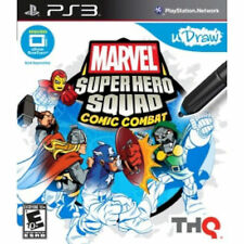 Sony PS3 Marvel Super Hero Squad Comic Combat Video Game for uDraw Tablet Play