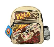 "New Wild Taz Dog Boys School Backpack 12"" Medium Size Bag With Free water bottle"