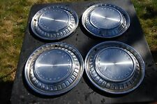 """1960 Pontiac Set/4 Hubcaps / Wheelcovers NICE Originals 14"""""""