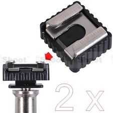 "2x Standard 1/4"" Screw Hole Cold Foot to Hot Shoe Mount Adapter for Canon Flash"