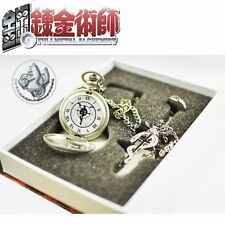 FULLMETAL ALCHEMIST OROLOGIO ANELLO RING NECKLACE COLLANA WATCH CLOCK EDWARD