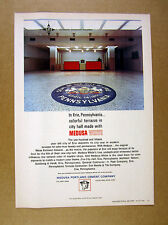 1966 Erie PA City Hall Terrazzo Floor Seal photo Medusa Cement vintage print Ad