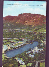 COLORADO SPRINGS Broadmoor Hotel Air View Old Vintage Postcard