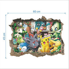 Pokemon Go Pikachu Mural Wall Decals Sticker Kids Room Decor Removable Vinyl AA