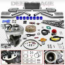 T04E T3/T4 V-BAND 11PC TURBO KIT+INTERCOOLER+MANIFOLD 92-99 BMW E36 M50/M52 I6