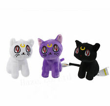 3pcs / Set animado sailor Moon Luna Gato Suave Felpa Muñeca kawaii juguetes 7''