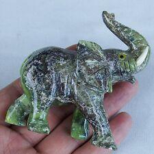 Gemstone Soapstone Elephant Stone Animal Carving Figurines Elephant (large)