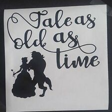 """tales as old as time beauty beast vinyl decal fits ikea Ribba Box Frame 8"""" x 8"""""""