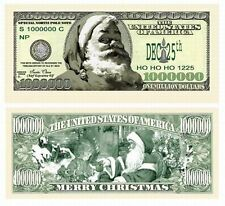 (100) One Million Classic Santa Claus Christmas Holiday Novelty Play Money Bills