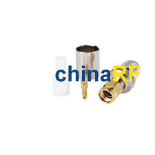 RP-SMA Crimp Plug(female pin) straight goldplated connector for RG8,RG213,LMR400