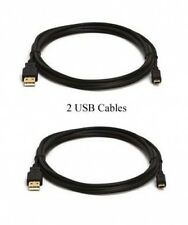 TWO 2 USB CABLES for Canon  IXUS 310 HS IXUS110 IS VIXIAHG20 VIXIAHG21 VIXIAHR10