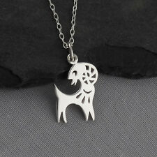Year of the Goat Necklace - 925 Sterling Silver - Chinese Zodiac Pendant NEW
