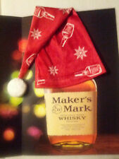 NEW Maker's Mark Christmas Bottle Hat Collectible 2013 - Ambassador Nightcap