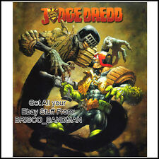 Fridge Fun Refrigerator Magnet JUDGE DREDD vs DEATH Art A Greg Staples