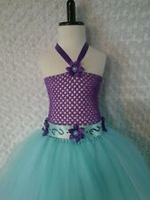 Little Mermaid inspired princess Tutu dress 5-8 kids knee length