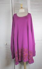 Encore Tunic Berry Thermal w/ Box Art OSFA by Blue Fish Red Moon Clothing