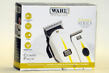 WAHL COMBI PACK Clipper Super Taper and Rechargeable Super Trimmer SET BOXED