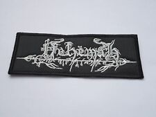 NEHEMAH EMBROIDERED LOGO BLACK METAL PATCH