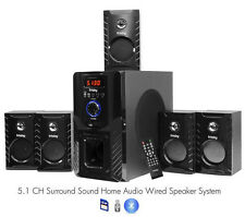FS5000BT Bluetooth PC Laptop Computer 800 Watt Surround Sound 5.1 Speaker System