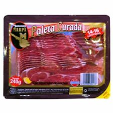 3 X 240 gr - SHOULDER HAM SLICED - JAMON SERRANO - CURED