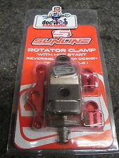 New Sunline clutch brake lever rotator bar clamp + hot start lever grey YZ2197