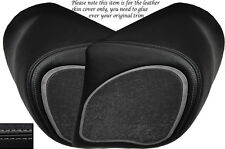 GREY STITCH CUSTOM FITS BMW K 1200 LT 99-09 2X SPEAKER PAD LEATHER COVERS