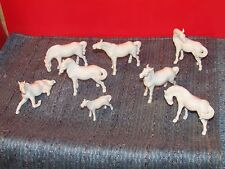 Herd of 8 Swatow China White Porcelain Horse Figurines