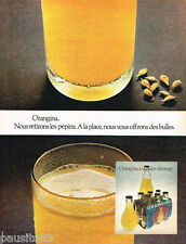 PUBLICITE ADVERTISING 085  1971  ORANGINA 2  boisson à l'orange