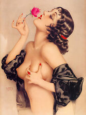 MEMORIES, Nude Pin-Up Model Vintage Giclee Canvas Print 22X29