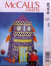 Childs ROCKET SHIP PLAY CANOPY McCalls Pattern 7419 NEW Teepee Tent Playhouse