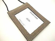 Neck Hanging Strap ID Work Badge Card Holder Wallet Animal Texture Style JTC