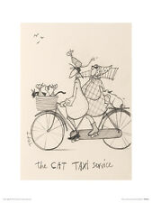 Sam Toft (The Cat Taxi Service Sketch)  PPR44483  ART PRINT 40cm x 30cm