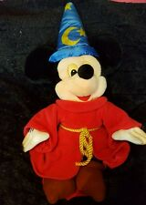 "Disney Mickey Mouse Fantasia Sorcerers Apprentice Soft Plush Toy 17"" Tall"
