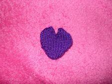 Petit tricoté à la main coeur pochette (idéal mariage faveur)