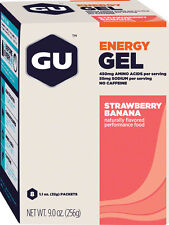 NEW GU Energy Gel Strawberry/Banana Box of 8
