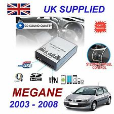 Renault MEGANE MP3 SD USB CD Entrada Auxiliar Adaptador De Audio Digital