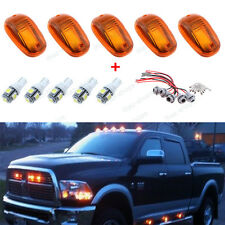 5Pcs Classic Amber Cab Roof Marker Running Lamps LED Light Bulbs For Dodge Ram